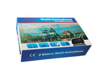 BT 1000M Motorcycle Helmet Bluetooth Intercom Headset Connects