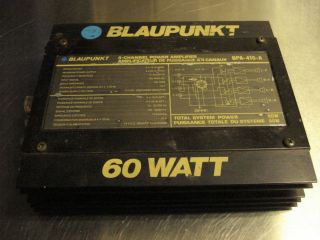 Blaupunkt BPA 415A Old School 4 Channel Power Amplifier