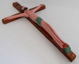 Bluteau Quebec Folk Art Primitive Carving Crucifix
