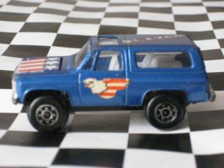 Zylmex P359 Blue Chevrolet Blazer Zee Toys Chevy 1980s Vintage Truck