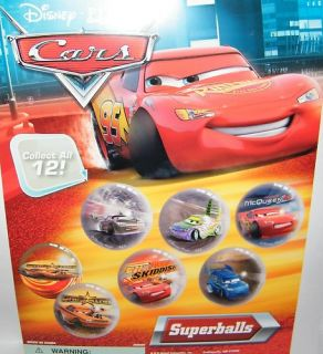 Disney Cars Superball Rubber Bounce Balls Set 12 Toys