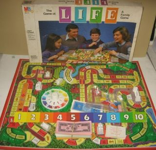 Milton Bradley The Game of Life Board Family Fun Game w Lottery Line x