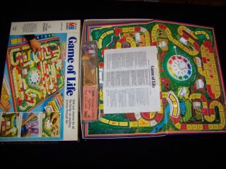 The Game of Life 1978 Vintage Boardgame 100 Complete Board Game