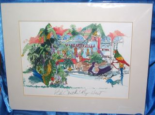 Bob Smiths Key West Margaritaville Hand Signed Print