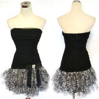 Blondie Nites $140 Black White Prom Party Dress 7