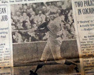 Ron Blomberg Becomes 1st DH Designated Hitter New York Yankees 1973 NY
