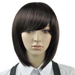 455 New Fashion Short Natural Color Bob Wig