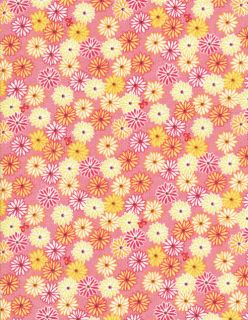 Timeless Treasures Blossom Lane Daisies Flower Pink Fabric by Yard