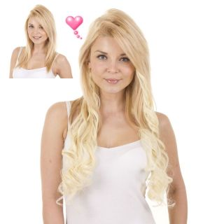 Light Blonde Curly 18 Full Head Clip Hair Extensions