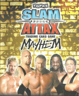 Topps WWE Slam Attax Mayhem Legends Trading Card See Cards Available