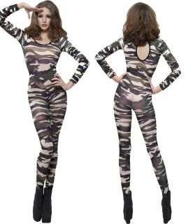 Fever Bodysuits Adult Fancy Dress Ladies Womens Sexy Catsuit Body Suit