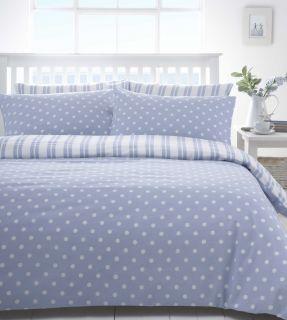Blue White Polka Dot Spot or Stripe Boys Discount Bedding Sets Bed
