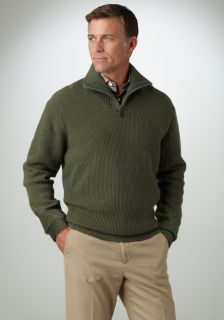 Bobby Jones Mens Trophy Collection Plaited Rib 1 4 Zip Sweater