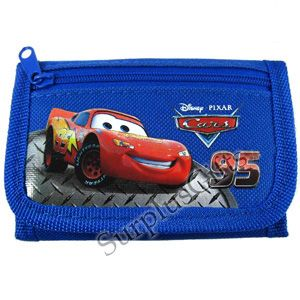 one brand new Disney Cars Lightning McQueen Wallet in Blue   WDC1539