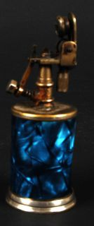 vintage aqua blue cigarette cigar table lighter