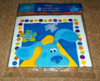 New BLUES CLUES Birthday PARTY SUPPLIES Loot GIFT Treat BAGS Plastic 8