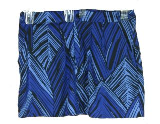 New Gap Blue Black zig zag pattern short mini skirt w pockets NWT Sz