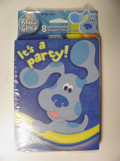 Blues Clues Birthday Party Supplies Invitations Thank You Cards 8ct