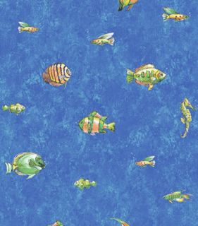 New Ocean Sea Life Fish Wallpaper Roll Seahorse Blue Water Decor Wall