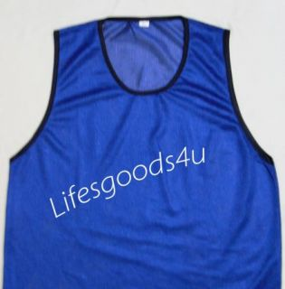 12 Blue Child Scrimmage Practice Jerseys pinnies Vest Soccer Football