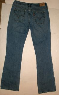 Levis Misses 515 Blue Jeans Red Tab Size 8 Long 31x33