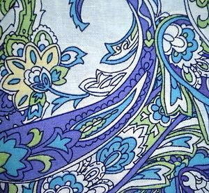 RALPH LAUREN PAISLEY SHOWER CURTAIN AQUA BLUE GREEN PURPLE TROPICAL