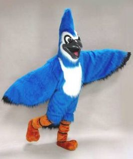 Blue Jay Bird Mascot Head Costume Halloween Prop