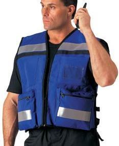 EMS Paramedic Fire Rescue Deluxe Hi Visibility Blue Safety Vest