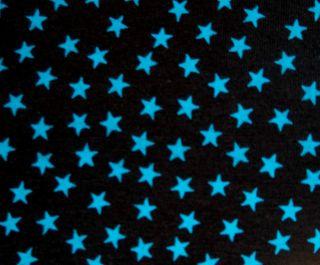SMALL fabulous quality blue star cotton lycra 4 way stretch knit