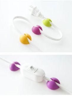 Bluelounge Cabledrop Multi Purpose Cable Clip CD BR Bright Colors