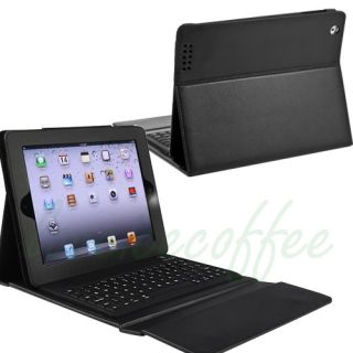 2nd Gen Black Stand Leather Case Cover With Bluetooth Keyboard Black