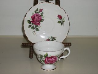 Vintage Fine Bone China Cup Saucer Set