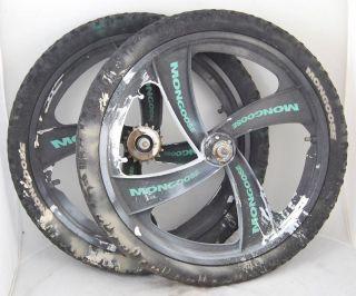 Used Mongoose BMX 4 Spoke Mag Wheelset Wheels Mags 20 18T Freewheel