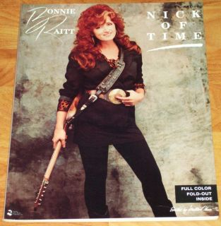 BONNIE RAITT Nick Of Time SONG BOOK w/ POSTER sheet music piano vocals