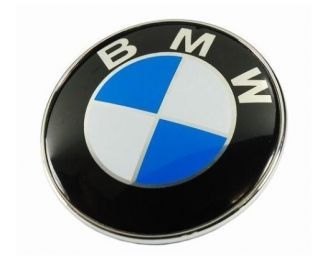 82mm BMW M X Z 1 3 5 6 7 Series Chrome Hood Trunk EMBLEM Logo Badge