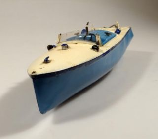 Hornby Meccano Wind Up Toy Motor Boat Racer III Old