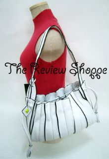 Donald J Pliner Boaz White Leather Hobo Bag Purse $285