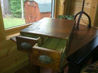 Antique Vintage Old Wood File Box Index Card Drawer Cabinet