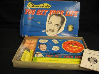 WOW Vintage 1955 Grouchos You Bet Your Life Board Game