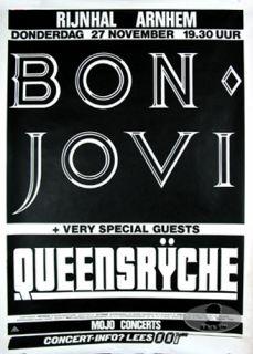 description original european concert poster for the bon jovi 1986
