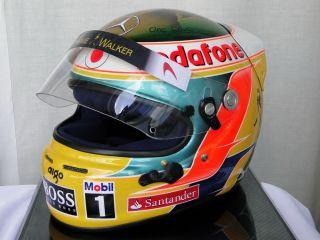 Lewis Hamilton 2011 Indian GP Bob Marley Tribute F1 Helmet Full Size