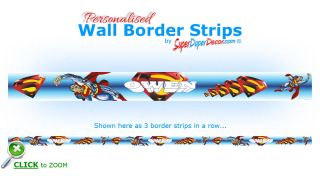 WALL BORDER STRIPS children boys bedroom wallpaper borders