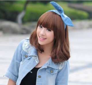 Brown pretty short wave Pony BOB Synthetic hair wig Wigs party costume
