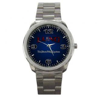 New Fashion Lund Boat Fishing Logo Sport Metal Watch Watches RARE