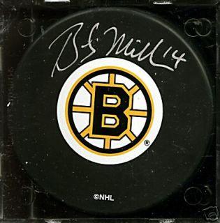 Bob Miller Boston Bruins Auto Puck Autograph Signed