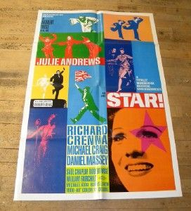 julie andrews star psychedelic one sheet 1968