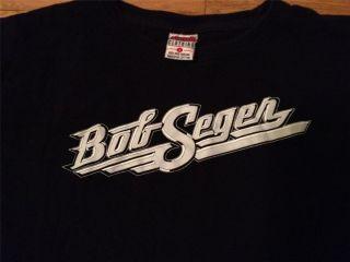 Bob Seger Black T Shirt Silver Bullet Band Old Time Rock N Roll Large