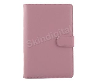 For Nook Tablet Nook Color Pink Leather Case Cover Jacket