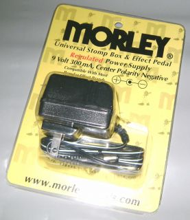 Morley Regulated Power Supply 9VDC 300 mA NEW