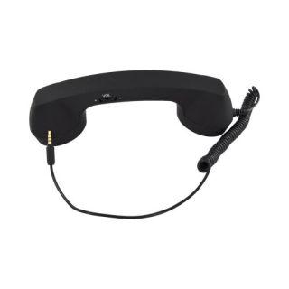 Bossy Black Universal Retro Soft Touch Telephone Handset 3.5mm